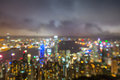 Blured lights from peak victoria hong kong in Royalty Free Stock Photography