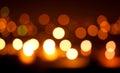 Blured orange lights on black background Royalty Free Stock Photo