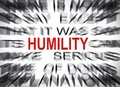 Blured text with focus on HUMILITY Royalty Free Stock Photo