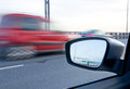 Blurred action from car at high speed Royalty Free Stock Photo