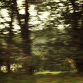 Blurred action from car at high speed - retro filter photography.