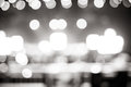 Blurred background : Bokeh lighting in concert with audience ,Mu Royalty Free Stock Photo
