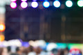 Blurred background : Bokeh lighting in stage with Dance showbiz Royalty Free Stock Photo