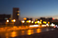 Blurred background - night lighting Dnepropetrovsk highway Royalty Free Stock Photo