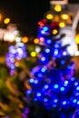 Blurred bokeh background with warm orange lights blurred imaeg of Stock Photos