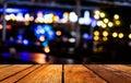 Blurred bokeh background with warm orange lights blurred imaeg of Royalty Free Stock Image