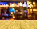Blurred bokeh background with warm orange lights blurred imaeg of Stock Image