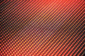 Blurred bokeh red LED panel. Royalty Free Stock Photo