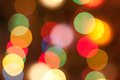 Blurred Christmas lights Royalty Free Stock Photos