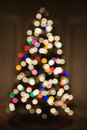 Blurred Christmas tree lights. Royalty Free Stock Photography