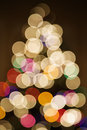 Blurred Christmas tree lights. Stock Photos