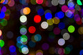 Blurred Christmas Tree Lights Royalty Free Stock Images