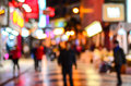Blurred city shopping and people urban scene Royalty Free Stock Photo