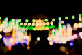 Blurred Defocussed Abstract Background of a Night Market Royalty Free Stock Photo