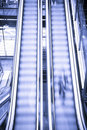 Blurred escalators Royalty Free Stock Photo