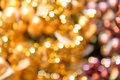 Blurred glittering christmas background gold Royalty Free Stock Images