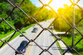 Blurred highway scene Royalty Free Stock Photo