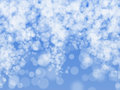 Blurred lights and sparkles blue christmas backgrounnd Royalty Free Stock Images
