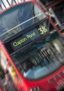 Blurred london bus red double decker with motion blur Stock Image