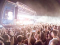Blurred open air concert background Royalty Free Stock Photo