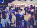 Blurred People Festival Event Party outdoor Royalty Free Stock Photo