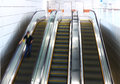 Blurred person on escalator the Stock Image