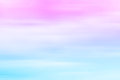 Blurred sky at sunset. Pink to blue, pastel tones, gradient Royalty Free Stock Photo