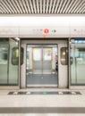 Blurred subway train Royalty Free Stock Photo