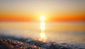 abstract sun blurred summer sea dawn horizontal background Royalty Free Stock Photo