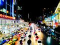 stock image of  Blurred of traffic jam in rush hour of many cars in Bangkok city, Thailand