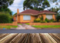 Unfocused picture of house Royalty Free Stock Photo
