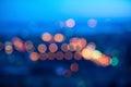 Blurring big abstract circular lights bokeh Royalty Free Stock Photo