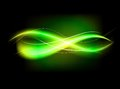 Blurry abstract green lined light effect background Royalty Free Stock Photo