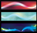 Blurry abstract neon light effect web banners Royalty Free Stock Photo