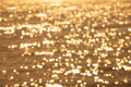Blurry background of bokeh on water sea Royalty Free Stock Photo