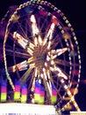 Blurry ferris wheel Royalty Free Stock Image
