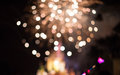 Blurry Fire Works and Castle Royalty Free Stock Photo