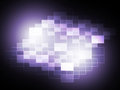 Blurry pixel light spot means creativity and diffusion meaning Stock Photo