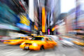 Blurry taxi new york Stock Images