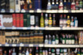 Blurry wine store Royalty Free Stock Photo