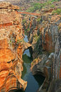 Blyde river canyon south africa a bridge over near bourkes luck potholes in drakenberg Stock Images