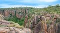 Blyde river canyon south africa mpumalanga summer landscape red rocks and water Stock Photo