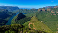Blyde river canyon and the three rondavels sisters in mpumalanga south africa is third largest Royalty Free Stock Photos
