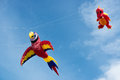 Blyth northumberland uk may kites in flight at blyth kite festival Royalty Free Stock Images