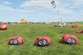 Blyth northumberland uk may kites in flight at blyth nothumberland kite festival Royalty Free Stock Images