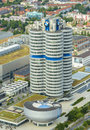 Bmw building museum located near the olympiapark in munich bavaria germany Stock Photos