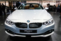 Bmw cabrio may series in istanbul autoshow Royalty Free Stock Image