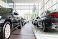 Bmw cars for sale at car dealership showroom Stock Image