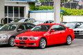 Bmw e series montreux switzerland august motor car at the used cars trade center Royalty Free Stock Photography