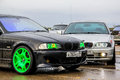 Bmw e series nadym russia august drift cars at the city street Royalty Free Stock Image